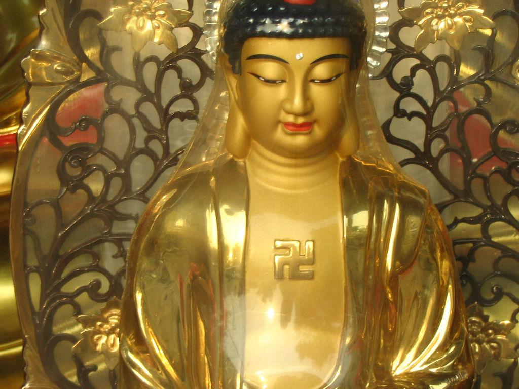 Buda con una esvástica en el pecho (Robert Ennals / Flickr )