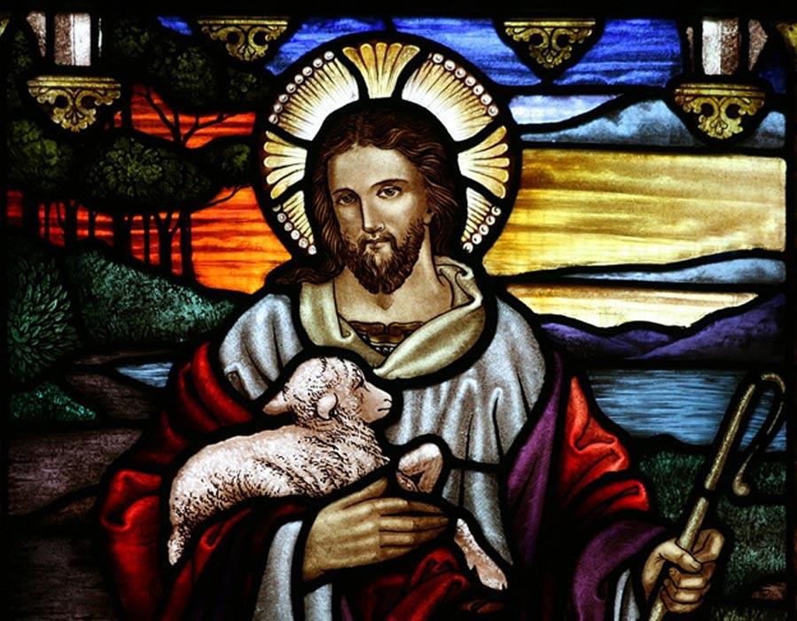 Jesús retratado como el Buen Pastor. (CC BY-SA 3.0)