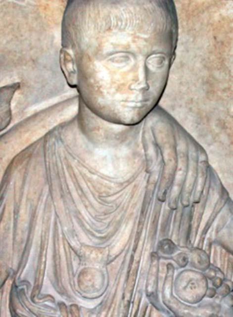 La bulla, un amuleto usado como medallón que se daba a los niños de la antigua Roma nueve días después de su nacimiento. (Agnete/CC BY-SA 3.0)