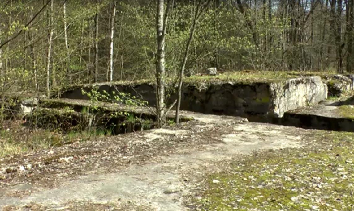 El búnker de la Segunda Guerra Mundial en el que podría encontrarse oculto el Salón de Ámbar. (TVN24)
