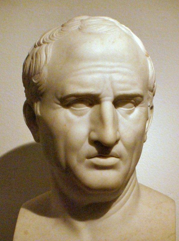 Busto de Marco Tulio Cicerón, esculpido por Bertel Thorvaldsen (1799-1800), copia de un original romano. Thorvaldsens Museum de Copenhague, Dinamarca. (Public Domain)