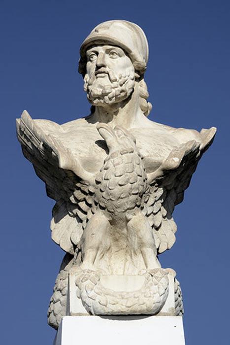 Busto de Cimón en las playas de Larnaca, Chipre. (Markus Leupold-Löwenthal/CC BY SA 3.0)