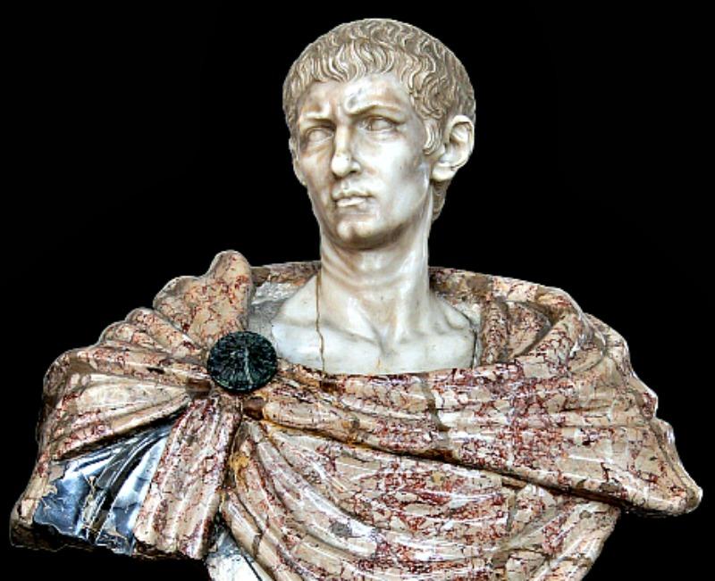 Busto en mármol del emperador romano Diocleciano (ca.245-313). Esculpido en Florencia, Italia, en el siglo XVII, de autor desconocido. Actualmente se encuentra en el Castillo de Vaux-le-Vicomte, Francia. (Public Domain)
