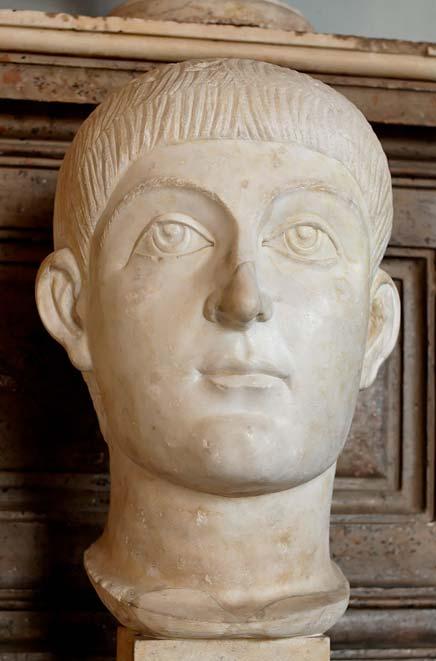 Busto de mármol, posiblemente del emperador Valente (Public Domain)