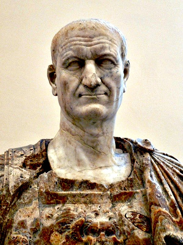 Busto del emperador Vespasiano, bajo cuyo mandato se iniciaron las obras de construcción del Coliseo. Museo Arqueológico de Nápoles, Italia. (Dave & Margie Hill / Kleerup-CC BY-SA 2.0)