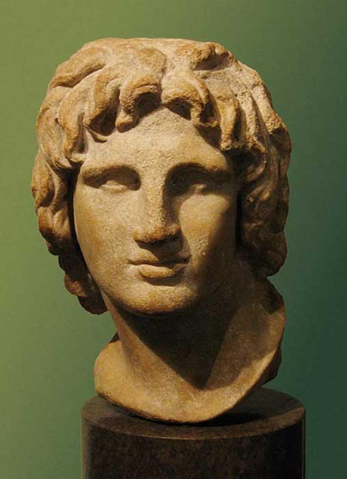 Busto de un joven Alejandro Magno de la época helenística, Museo Británico. (CC BY SA 2.0)