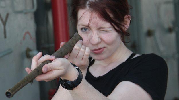 Gran parte de los objetos hallados son armas, como este cañón de bronce perteneciente a un antiguo arcabuz. (Fotografía: esmeraldashipwreck.com/La Gran Época)