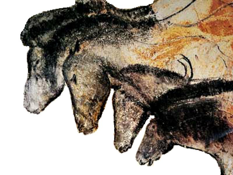 Caballos de la Cueva de Chauvet, en Francia, pinturas rupestres datadas en torno al año 31000 a. C. (Public Domain)