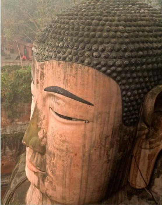 Los cabellos del Buda de Leshan están formados por 1021 rizos. (Chi King / CC BY 2.0)