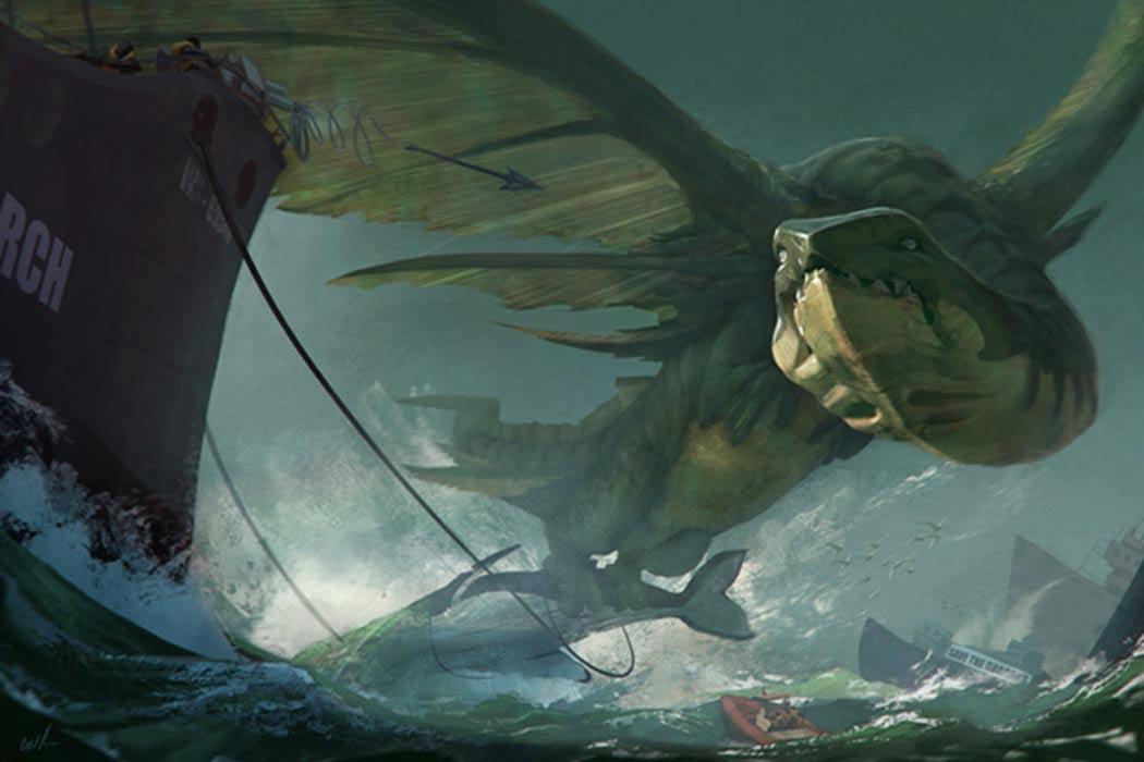 ¿Fue el descubrimiento de cadáveres de ballenas el que dio origen a las leyendas sobre dragones? (wallpaperswa.com)