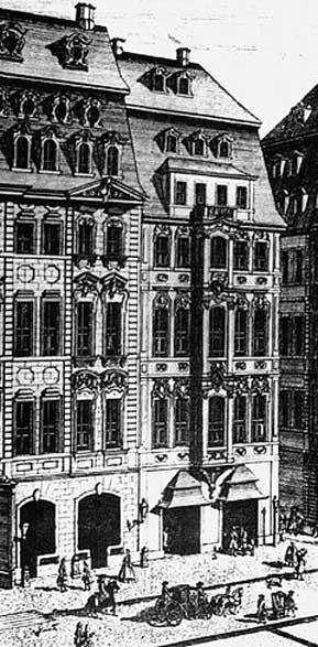 El Café Zimmermann de Leipzig, sede del Collegium Musicum durante la primera mitad del siglo XVIII. (Public Domain)