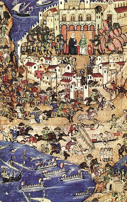 Caída de Trípoli a manos de los mamelucos, abril de 1289. Esta batalla fue una de las últimas de las Cruzadas. (Dominio público)