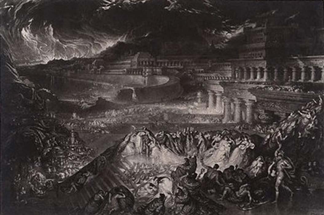 'La caída de Nínive.' Grabado a media tinta de John Martin (CC BY SA 4.0)