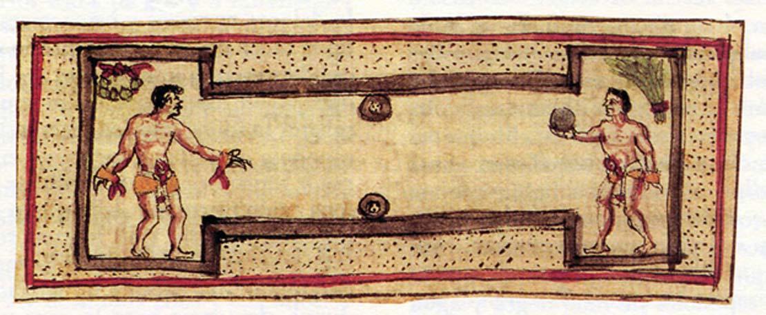 Las canchas olmecas tenían la forma de una 'I' mayúscula (Imagen: mexicolore)