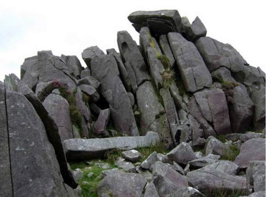 Cantera de 'bluestones' en Carn Menyn, Gales (Public Domain)