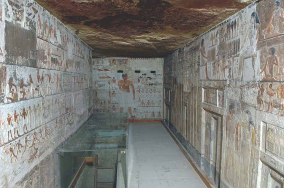 Saqqara, capilla de Kahai y su familia, Dinastía V, (2420 a. C. – 2389 a. C.). (Ms. Effy Alexakis/Macquarie University Ancient Cultures Research Centre)