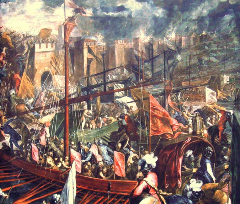Captura de Constantinopla en 1204, en el transcurso de la Cuarta Cruzada (Public Domain)