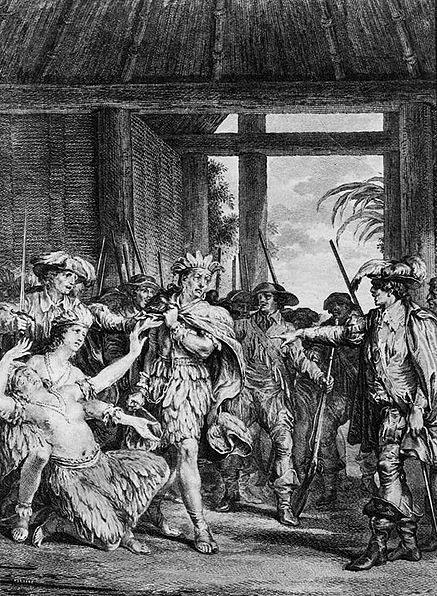 Grabado de la captura de Atahualpa en Cajamarca.(Public Domain)