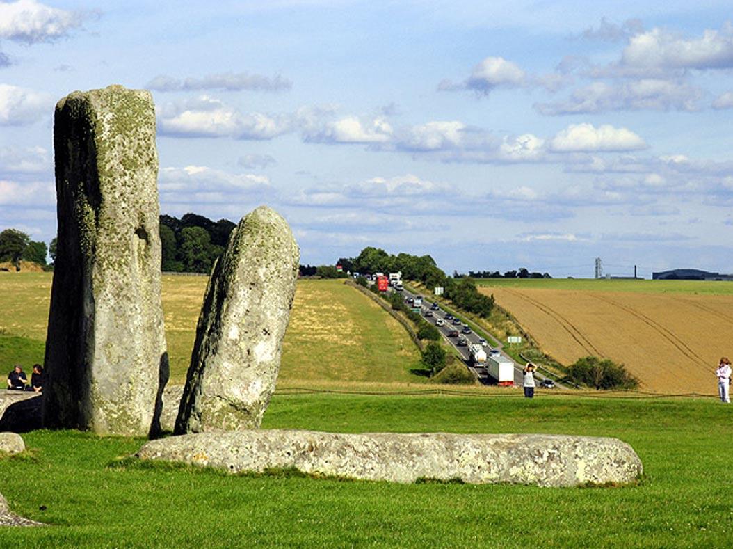 La A303 a su paso por las inmediaciones de Stonehenge. (CC BY-SA 2.0)