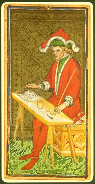 """Carta del """"Mago"""", perteneciente a una baraja de tarot del siglo XV. Public Domain"""