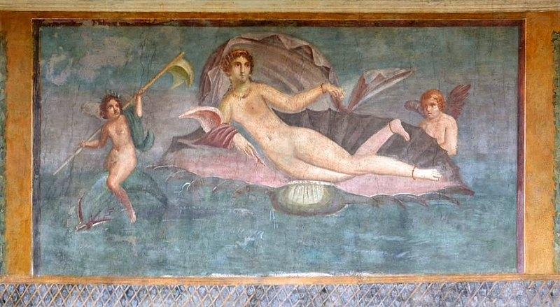 El restaurado fresco de la Venus de la Concha decora las paredes de la casa homónima. (Fotografía: ABC)