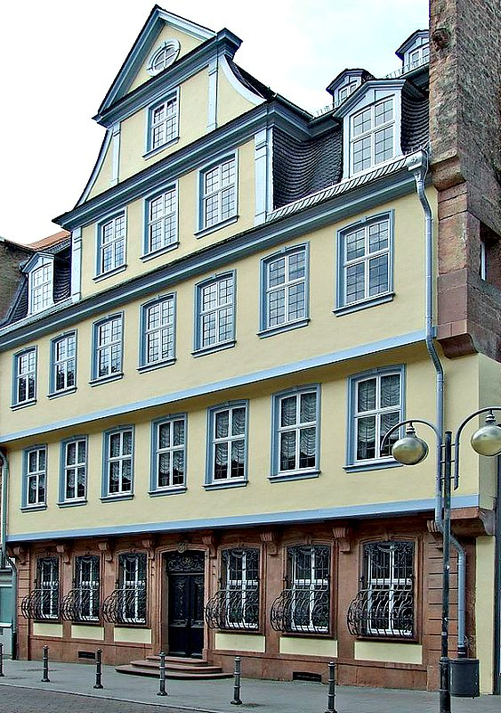 Casa natal de Goethe en Fráncfort, reconstruida tras la II Guerra Mundial. (Dontworry/CC BY-SA 3.0)