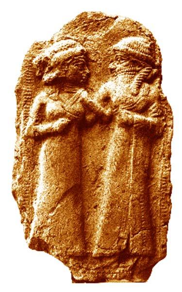 El casamiento de Inanna y Dumuzi. (Dominio público)
