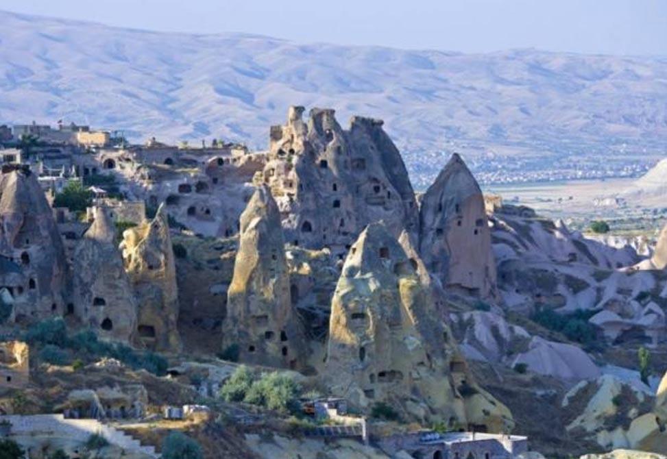 Las impresionantes casas-cueva de Capadocia, Turquía. Fuente: BigStockPhoto