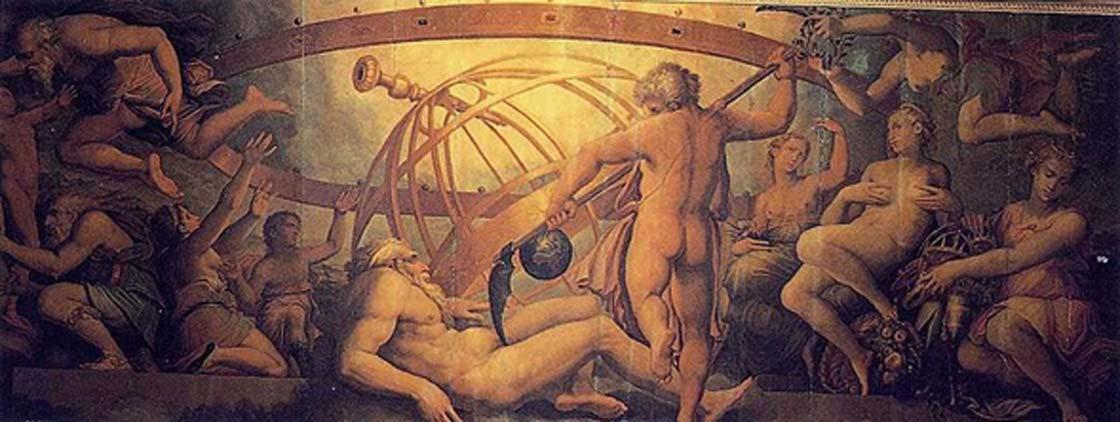 Cronos castra a Urano (Dominio público)