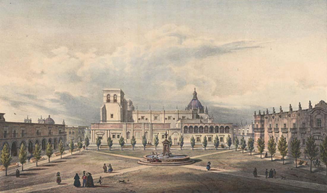 La catedral de Guadalajara en 1836. (Public Domain)