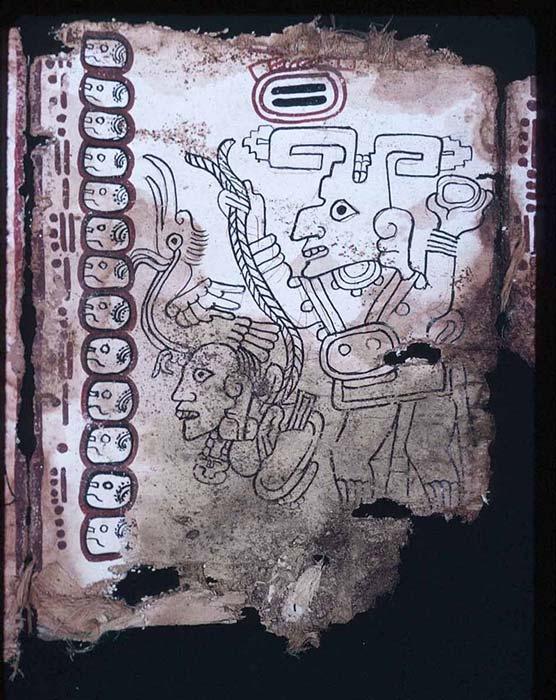 El cautivo, página 9 del Códice Grolier. (Public Domain)