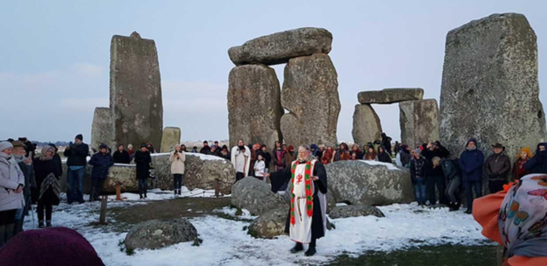 Celebraciones del equinoccio de primavera del 2018 en Stonehenge. (CC BY 2.0)