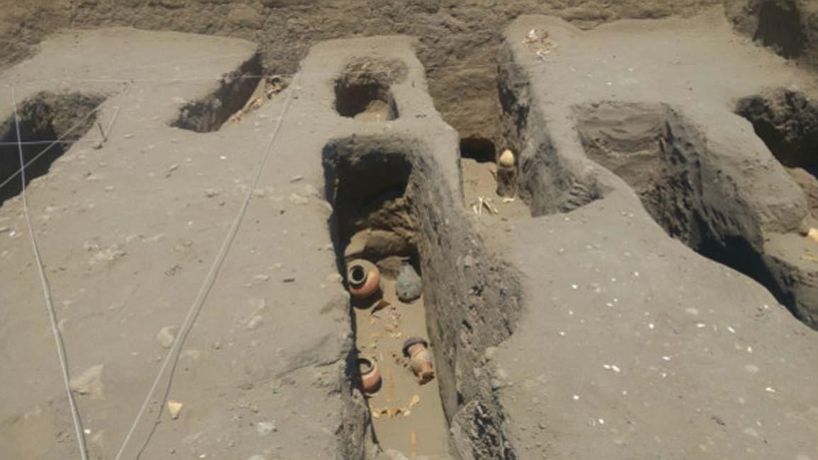 Fotografía del cementerio Chimú – Inca del yacimiento arqueológico de Chotuna-Chornancap. (RPP/Rosario Coronado)