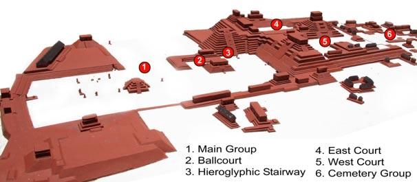 Mapa del Centro de Copán (Wikimedia Commons)