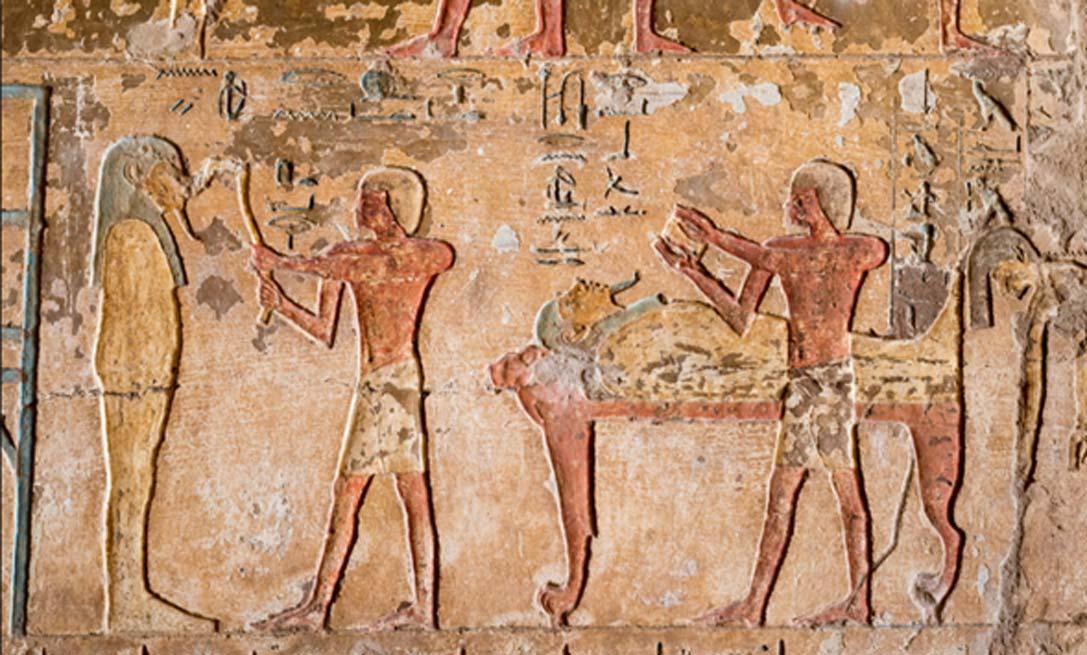 Ceremonia egipcia de la Apertura de la Boca. Relieve de la tumba de Renni (kairoinfo4u / flickr)