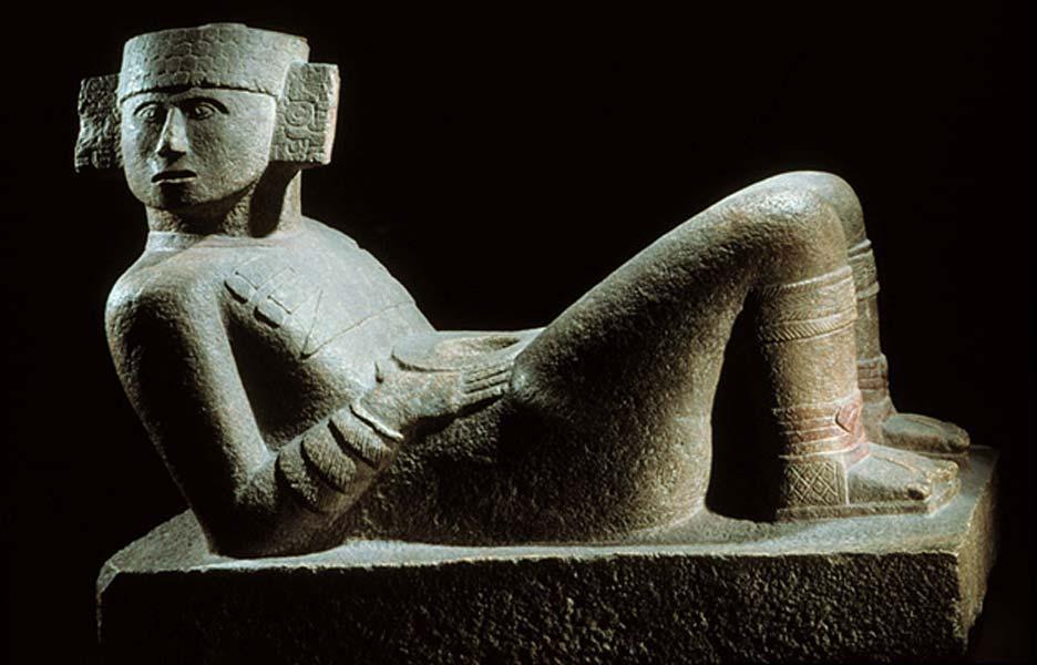 ¿Quién era Chac-Mool? -La estatua de Chac-Mool tal y como podemos contemplarla hoy en día en el Museo Nacional de Antropología de Ciudad de México. (Fotografía aportada por el autor)