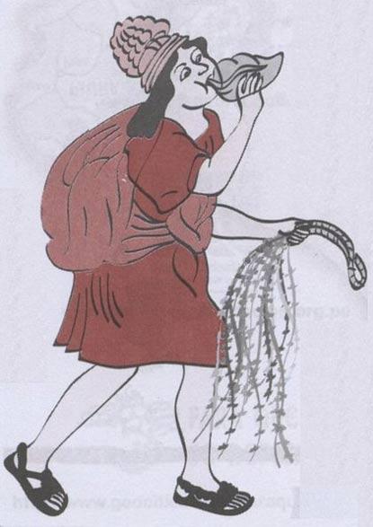 Chasqui haciendo sonar un pututu (caracola). Los chasquis eran los veloces mensajeros del Imperio Inca, y de ellos se decía que podían correr hasta 240 kilómetros en un día. Por medio de un eficiente sistema de relevos, eran capaces de hacer llegar un mensaje importante de Quito a Cuzco en tan solo una semana. (Public Domain)