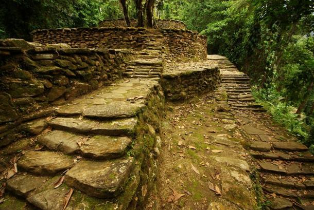 Caminos, terrazas y escaleras de Ciudad Perdida-Foto:Raphael Chay (Wikitravel)
