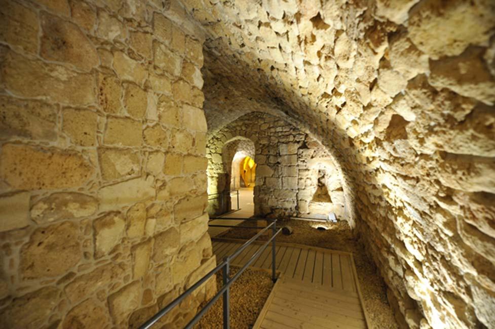 Ciudadela subterránea de los caballeros templarios, Acre, Israel. (PROMA/Adobe)