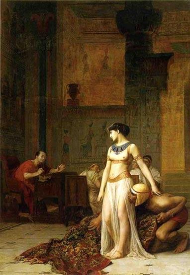Cleopatra y César (1866). Óleo de Jean-Léon Gérôme (Public Domain)