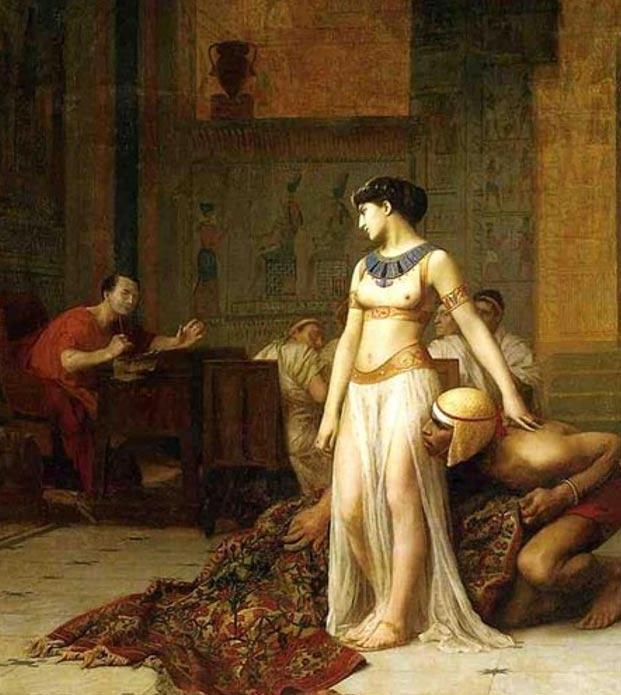 Cleopatra y César, óleo sobre lienzo de Jean-Leon-Gerome, 1866. (Public Domain)