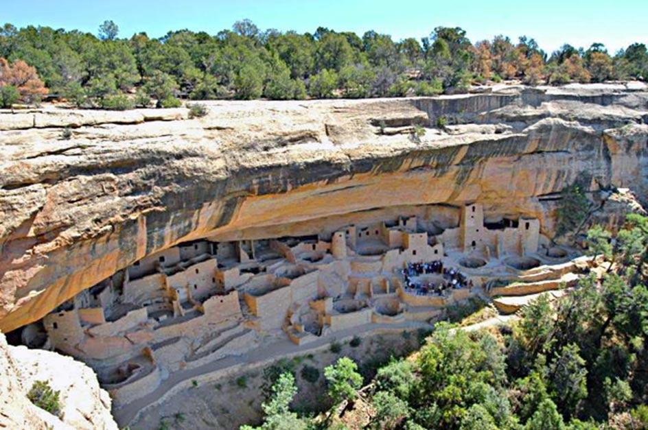 Antiguo poblado de Cliff Palace en Mesa Verde, condado de Montezuma, Colorado, Estados Unidos. (CC BY SA 3.0)