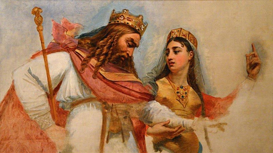 Clodoveo y Clotilde. (Public Domain)
