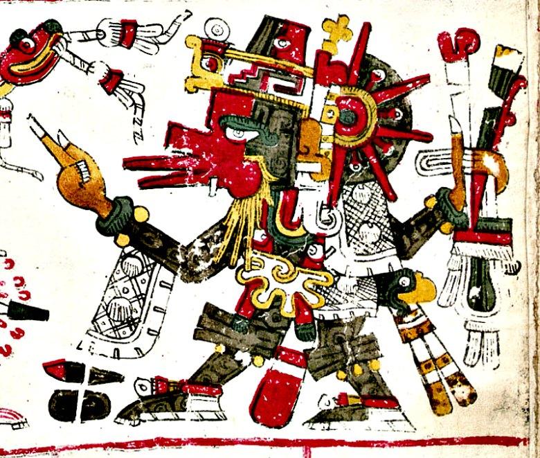 Ilustración de Quetzalcóatl en el Códice Borgia. (Public Domain)