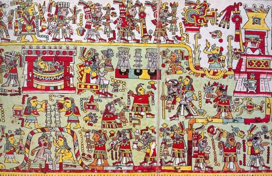 Códice Zouche-Nutall: Boda de 3-Sílex y 12-Viento, cultura mixteca (Mexico Lore)