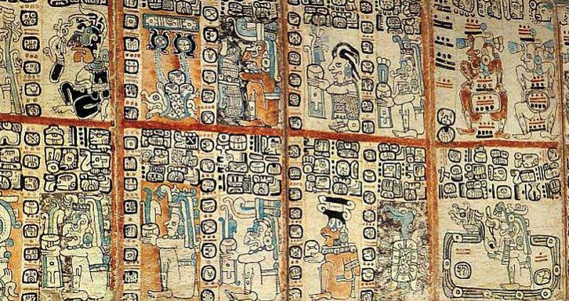 Detalle del facsímil del Códice Tro-Cortesiano o Códice de Madrid. Museo de América, Madrid, España. (Outisnn/CC BY-SA 3.0)