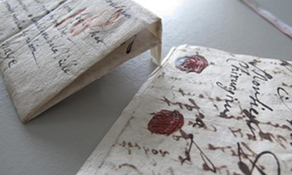 La colección incluye cartas de aristócratas, espías, mercantes, editores, actores y músicos. Fotografía: Museo de la Comunicación de La Haya