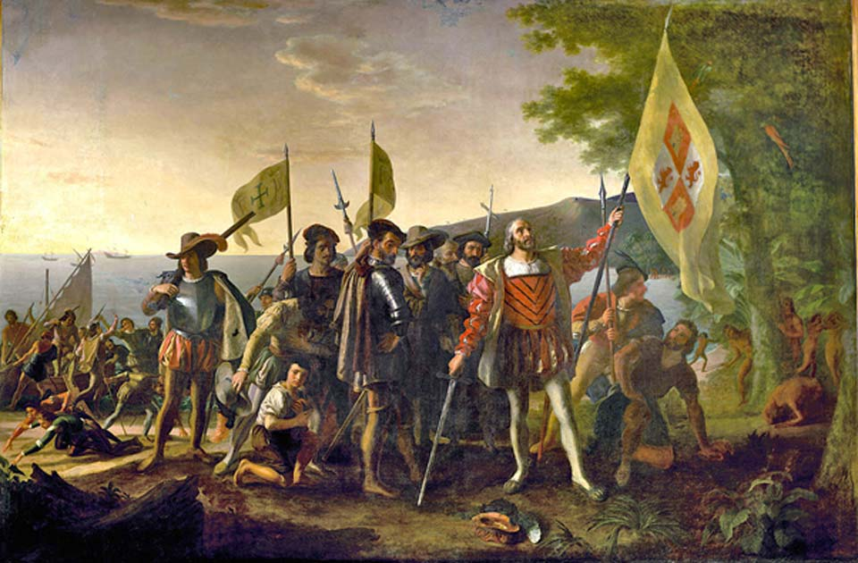 Desembarco de Colón en América (1492). (Davepape/Dominio público)