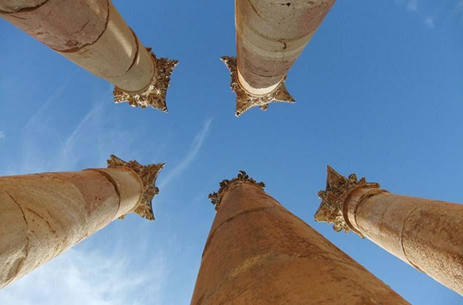 Columnas corintias en las ruinas de Gerasa, la actual Jerash. (CC BY 2.0)