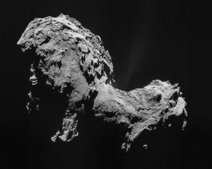 El cometa Churyumov-Gerasimenko en septiembre del 2014, imágenes tomadas por la sonda 'Rosetta'. (ESA/Rosetta/NAVCAM /CC BY-SA 3.0 igo)